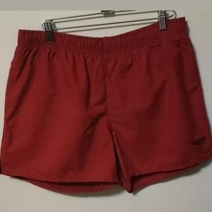 Speedo Swim Trunks Board Shorts Surf Beach Red M